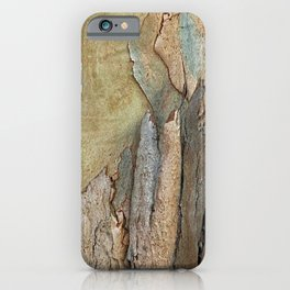 Eucalyptus Tree Bark and Wood Abstract Natural Texture 37 iPhone Case