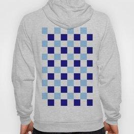 square and tartan 74- dark and light blue Hoody