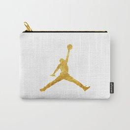 Gold Jordan Logo Carry-All Pouch