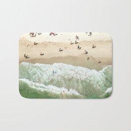 miami beach coastline Bath Mat