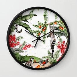 Ring-tailed lemurs of Madagascar .1 Wall Clock