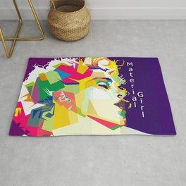 Madonna Pop Art WPAP Rug