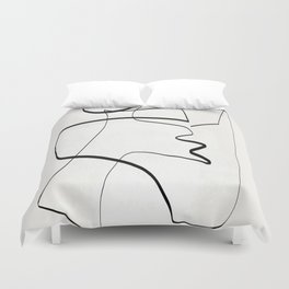 Abstract line art 6 Duvet Cover