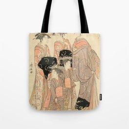 The Courtesans Maizumi Of The Daimonjiya Brothel Tote Bag
