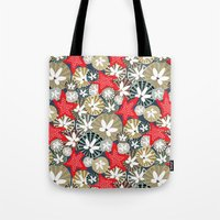starfish Tote Bags featuring Starfish by Angela Stevens
