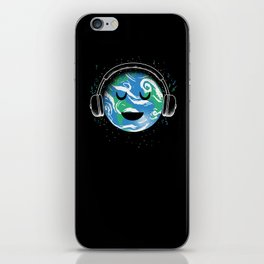 The whole planet loves music iPhone Skin