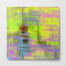 Abstract Thoughts 3 - Textured painting Metal Print