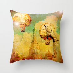 Hot-air balloons animal in Moscow Throw Pillow