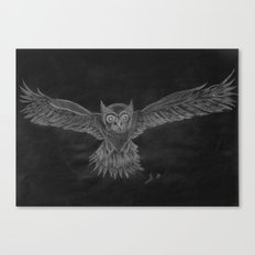 Owl sketch inverted Canvas Print