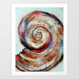 Moon Shell in Color Art Print