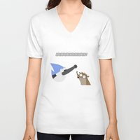 regular show V-neck T-shirts featuring regular show by tukylampkin