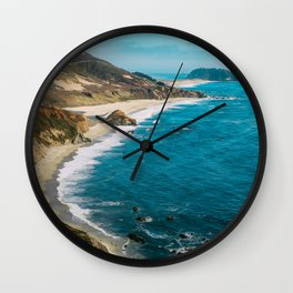 California Coastline Dreaming Wall Clock
