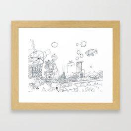 The Worm Framed Art Print