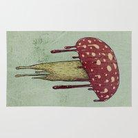 mushroom Area & Throw Rugs featuring Mushroom by Lime