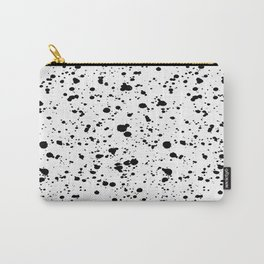Paint Spatter Black and White Carry-All Pouch