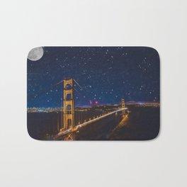 Golden Gate Bridge in the Stars Bath Mat