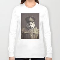 star Long Sleeve T-shirts featuring Sgt. Stormley  by Terry Fan