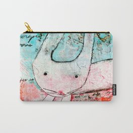 Who me? - little pink bunny Carry-All Pouch