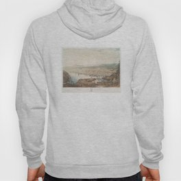 Vintage Pictorial Map of St Johns Newfoundland (1831) Hoody