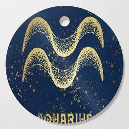 Aquarius Zodiac Sign Cutting Board
