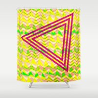 triangle Shower Curtains featuring Triangle. by Mr & Mrs Quirynen