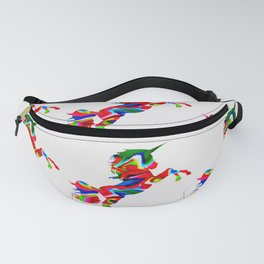 Watercolor unicorn-White Fanny Pack