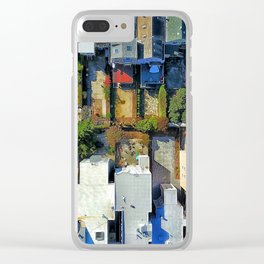 Patterned Neighbors Clear iPhone Case