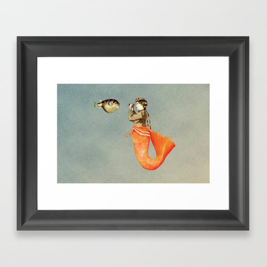 In search of realistic love Framed Art Print