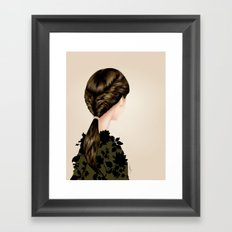 Twisted Ponytail  Framed Art Print