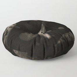 Black and white koi fish Floor Pillow