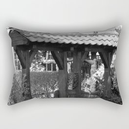Wooden Gate Archway Rectangular Pillow