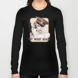 woman quote Long Sleeve T-shirt
