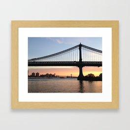 Manhattan Bridge at Sunrise Framed Art Print