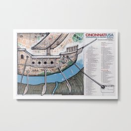 CINCINATTI, OHIO Metal Print
