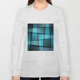 Abstract blue Long Sleeve T-shirt