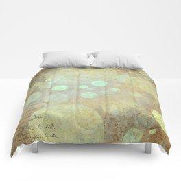 Goldy Mint Bubbles | Minimalist | Abstract | Modern | Shapes | Geometrix Comforters