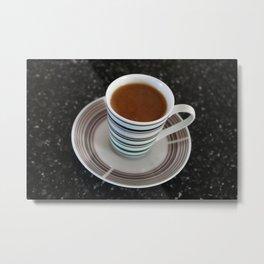 Mini Mug of Creamy Coffee Metal Print