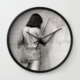 Only shades of Gray Wall Clock