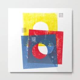 Basic in red, yellow and blue Metal Print