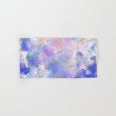 Lavender teal swirls gold Hand & Bath Towel
