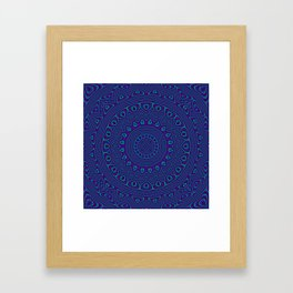 Trippy Kaleidoscope Framed Art Print