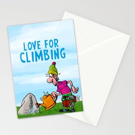 Love for Climbing Stationery Cards