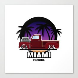 Miami muscle car Canvas Print