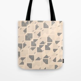Geometric seamless pattern design with a grunge texture Tote Bag