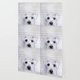Schnauzer original Dog original painting print Wallpaper