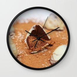 White Chocolate Truffels Wall Clock