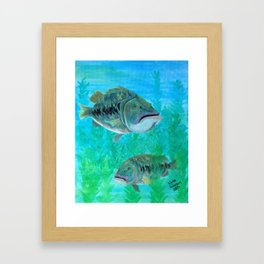 Bass Pairs Framed Art Print