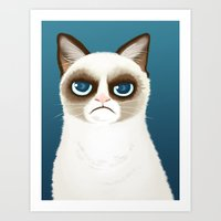 grumpy Art Prints featuring Grumpy by StudioMarimo