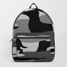 Grey Camo Weiner Dogg Backpack