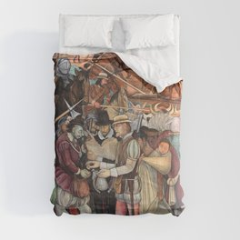 Mural by Diego Rivera Comforters
